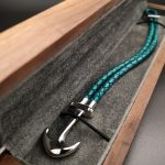 Leather Turquoise Blue Bracelet