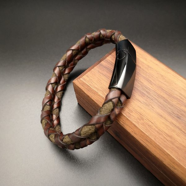 Brown Men Leather bracelet