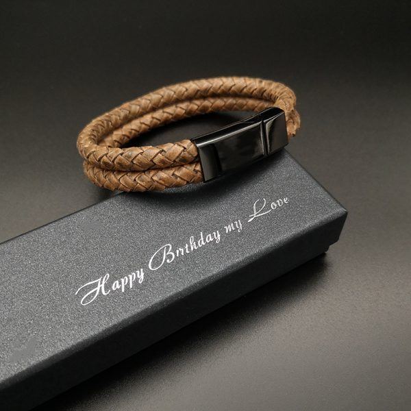 Leather bracelet for mens