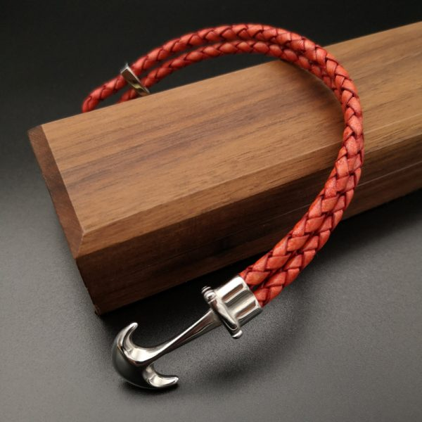 Red Anchor Bracelet